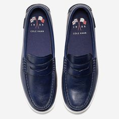 770d7eab9245 Men s Nantucket Hand-Stained Loafer - Navy Handstain Leather by Cole Haan