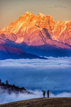 Spectacular view of Kanchenjunga from North Sikkim.