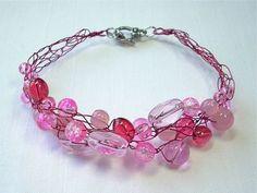 Wire Crochet how to.  #Wire #Jewelry #Tutorials