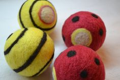 Wool Dryer Balls Set of 4 unscented Felted wool by WoolyTopic, $20.00