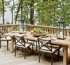 Image result for lakehouse dining centerpiece