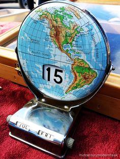 1960s perpetual calendar globes