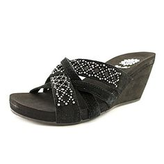 Yellow Box Tara Women Leather Wedge Sandal Black Size 75 >>> Read more  at the image link.