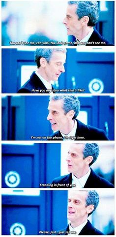 "This. My favorite scene from the premiere. We were all Clara. The Doctor has changed, he is different. He didn't want to change, but he had to. And instead of considering him and his struggles we're so stuck on the ""I miss Matt, I want my Doctor; my young, dashing hero,"" that we forgot that this IS the Doctor. This is OUR Doctor. And our Doctor doesn't even know who he is! And he needs Clara. And he needs us. And all he wants is for us to recognize him and to know we know he hasn't gone…"