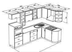 кухня 6м2 схема #cocinaspequeñasideas