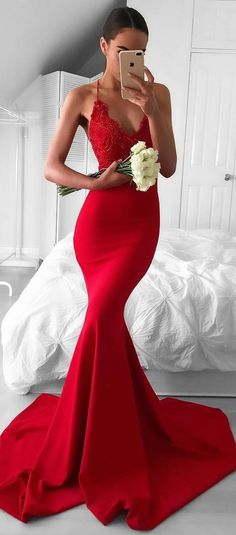 awesome red maxi dress