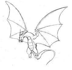 dragon flying easy drawing drawings simple deviantart draw wings dragons pencil sketches coloring pages