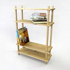 """""""The shelf uses pegs that hold up the shelves, which can be easily rearranged.""""    --Shared by WhatnotGems.Etsy.com"""