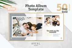 Photo Album Template - Grey by ArealPro on @creativemarket