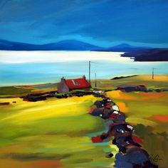 Pam Carter, Dyke To The Holding, oil