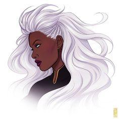 Storm art by Jen Bartel X Men Storm, Storm Xmen, Storm Marvel, X Men Comics, Marvel Comics, Marvel Art, Comic Book Characters, Marvel Characters, Jean Grey