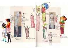 New waves: angela chiang 1 granary art fashion in 2019 fashi Textiles Sketchbook, Fashion Design Sketchbook, Fashion Design Portfolio, Art Sketchbook, Fashion Sketches, Fashion Illustrations, Alphonse Mucha, Collages, Art Simple