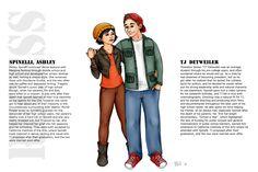 TJ Detweiler and Ashley Spinelli by Just-AO on DeviantArt Cartoon List, Cartoon N, Cartoon Ships, Disney Fan Art, Disney Fun, Disney Girls, Disney Movies, Cute Couple Comics, Couples Comics