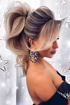 Puffed Ponytail Hairstyles #puffedhair #blondehair ★ It is time to start looking through hairstyles for prom as this special event is coming up. We have followed the trends to share them with you. #glaminati #lifestyle #chichairstylesforprom
