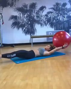Stability ball exercises for abs and core. Stability ball exercises for abs and core. Fitness Workouts, Sport Fitness, Body Fitness, Physical Fitness, Fitness Diet, At Home Workouts, Fitness Motivation, Health Fitness, Fitness Ball Exercises