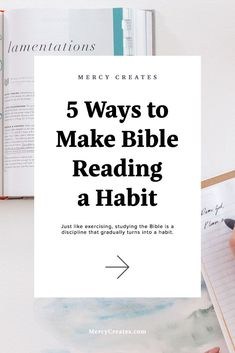 Are you a busy woman that has a hard time figuring out how to make studying the Bible a habit? Here are 5 ways that can help you discipline your mind and body to reading more Scripture! #MercyCreates #Biblejournaling #Bible #Biblestudy #Scripture #Christianblog #Christian #Christianblogger New Testament Books, Short Passage, Encouraging Verses, Train Your Mind, Lamentations, Brain Breaks, My Bible, Christian Living, 5 Ways