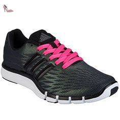 adidas Pureboost X, Chaussures de Foot Femme, Noir/Rouge (Negbas/Brisol/Negbas), 39 1/3 EU