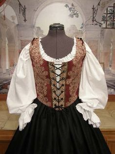 Renaissance WENCH DRESS Pirate Bodice/Corset by fairefinery, $150.00