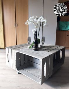 Table basse - Simply a Box Console Table, Nightstand, Sweet Home, Vase, Cabinet, Storage, Kit, Furniture, Authentique