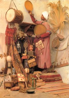 """The Curiosity Dealer"" Painting by Jean Discart, French, 1856 - 1944 Art And Illustration, Empire Ottoman, Arabian Art, Academic Art, Classical Art, Kandinsky, Fine Art, Art Plastique, Arabesque"