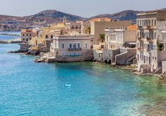 Syros Greece, Greek Beauty, Greece Islands, Greece Travel, Mansions, House Styles, Travel Ideas, Places, Bucket