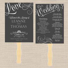 Vintage Romantic Wedding Program Printable // by PrimroseAndPark