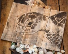 Seaturtle art Turtle painting Pallet wood art by SimplyPallets