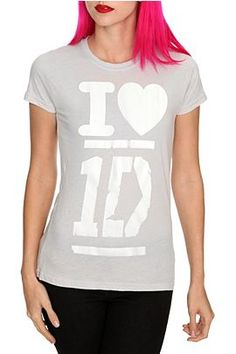 One of three One Direction shirts at Hot Topic