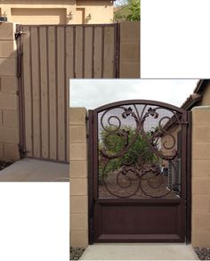 Colletti Design - Wrought Iron Walk Gate #walkgate #irongates #ornamentaliron #wroughtirongates #remodeling