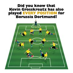 We need to talk about Kevin. Did you know the #Borussia #Dortmund player #Grosskreutz has played in every position?