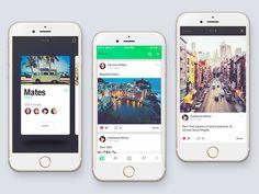 Social app 多图展示效果