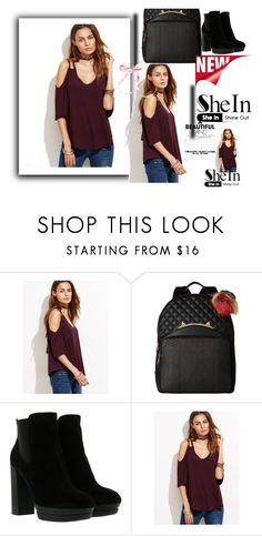"""Shein.com"" by whitedresses ❤ liked on Polyvore featuring Betsey Johnson and Hogan"