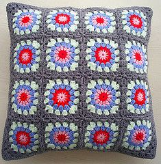 cath kidston inspired granny square cushion cover (riavandermeulen) Tags: vision:text=0676 vision:outdoor=0933 vision:plant=0608