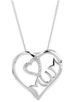 'Mum' Heart Pendant with Diamonds in Sterling Silver now $59.00 at Michael Hill Jeweller