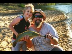 Bait fishing for Murray cod with young Liam - YouTube