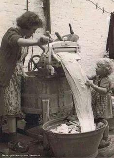 Slavenwerk was het wassen vroeger
