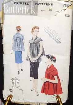 Vintage Maternity Pattern Vintage Maternity Sewing by QuiteQuainte, $2.50