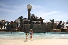 Italian Blogger Chiara and her daughter visit Yas Waterworld, Middle East's largest waterpark. Just a short trip from The St. Regis Saadiyat Island Resort, Abu Dhabi.   Family Traditions at St. Regis