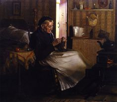 """Home Comfort,"" 1893 -- by John George Brown (English-born American, 1831–1913)"