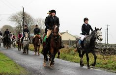 Hugo attended a charity hunt on New Years Day 2015.