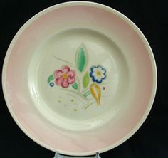 Susie Cooper Productions Nosegay pink salad plate