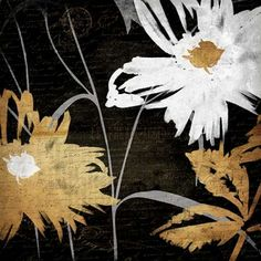 Gold Florals Reversed