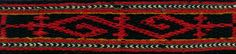 Three motifs from a belt from north Bulgaria The following are excerpts from some of the patterns on this belt. The weaver was clearly having a hard time; note the frequent changing of direction of the edge pattern. The belt is finished in a style typical of this area; groups of the warp are successively cut from the outer edges and put through as warp, making a triangular, fringed end.