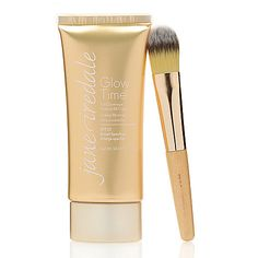 312-159 - jane iredale Glow Time Full Coverage Mineral BB Cream 1.7 oz w/ Foundation Brush