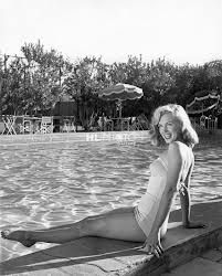 Marilyn Monroe at the Palm Springs Racquet Club, where she was discovered