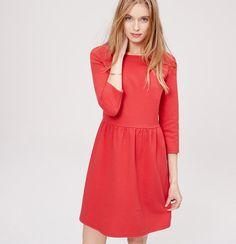 @LOFT 3/4 sleeve flare dress ~ maraschino cherry   loft.com