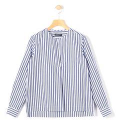 TOMORROWLANDのMACPHEE コットンブロード ノーカラーシャツです。こちらの商品はルミネのネット通販アイルミネで購入可能です。