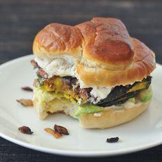 caramelized onion kabocha sandwich from @spabettie #vegan #recipe