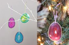 Laminating Pouch Ornaments with Sharpie Markers - School of Decorating Christmas Pictures, Christmas Ideas, Christmas Bulbs, Xmas, Sharpie Markers, Sharpie Art, Picture Ornaments, School Photos, Fun Crafts For Kids