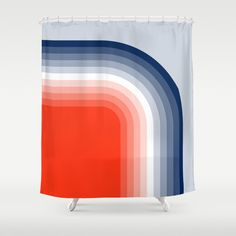 Stop neglecting bathroom decor - our designer Shower Curtains bring a fresh new feel to an overlooked space. Hookless and extra long, these bathroom curtains feature crisp and colorful prints on the front, with a white reverse side. Modern Shower Curtains, Striped Shower Curtains, Bathroom Shower Curtains, Bathroom Bath, Bath Shower, Small Bathroom, Nordic Home, Scandinavian Home, Scandinavian Bathroom